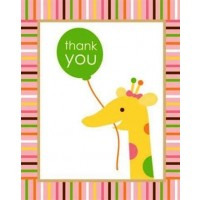 Sweet at One Girl Thank You Card