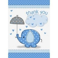 Boy Umbrellaphants Thank You Cards