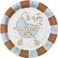 A Baby Joy Blue Pack of 8 Plates