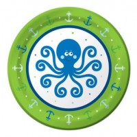 A Pack of 8 Ocean Boy Small Plates