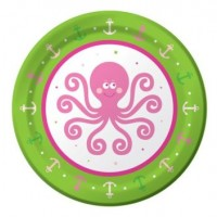 A Pack of 8 Ocean Girl Small Plates