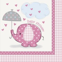 Girl Umbrellaphants pack of 16 Napkins