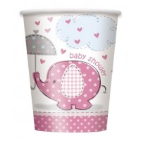 Girl Umbrellaphants pack of 8 Cups