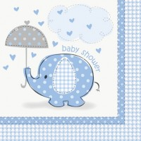 Boy Umbrellaphants Napkins (pack of 16)