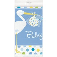 Baby Boy Stork Table Cover