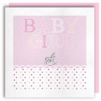 Baby Girl Rocking Horse Charm Card