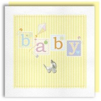 baby blocks neutral greeting card