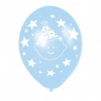 Pack of 6 Blue & Green Birthday Balloons