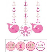 A Ocean Girl Set of 3 Hanging Decorations