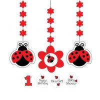 A Set of Ladybird Hanging Decorations