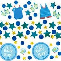 Baby Boy Clothes Line Confetti