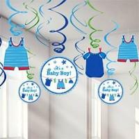 Baby Boy Clothes Line Hanging Swirls
