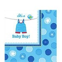 Baby Boy Clothes Line Napkins