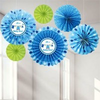 Baby Boy Clothes Line Paper Fans