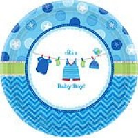 Baby Boy Clothes Line Plates