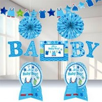 Baby Boy Clothes Line Room Decorating Kit