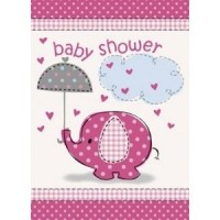 Girl Umbrellaphants Invitation