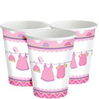 Baby Girl Clothes Lines Cups