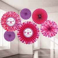 Baby Girl Clothes Line Paper Fans