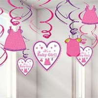 Baby Girl Clothes Line Hanging Swirls