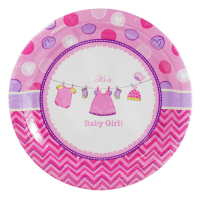 Baby Girl Clothes Line Plates