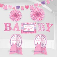 Baby Girl Clothes Line Room Decorating Kit
