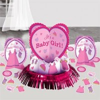 Baby Girl Clothes Line Table Decorating Kit