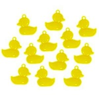 Baby shower charms yellow ducks