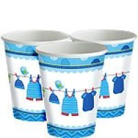 Baby Boy Clothes Line Cups