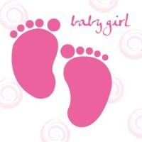 Baby Girl Feet Card
