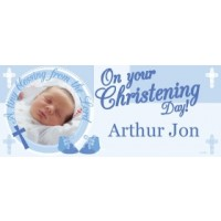 Blue Cross Blessings Giant Personalised banner