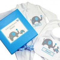 Blue Baby Elephant Gift Set