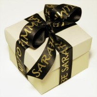 25mm Wide Personalised Luxury Satin Ribbon