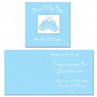 Baby Boy Personalised Bootie Greeting Card