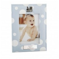 A Polka Dot Blue Personalised Photo frame