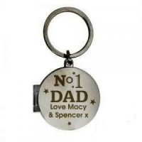 Personalised No1 Dad Photo Keyring