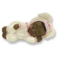 A Porcelain Ethnic Baby Girl Sleeping Baby