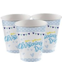 Christening Day Blue Cups