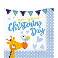 Christening Day Blue Napkins