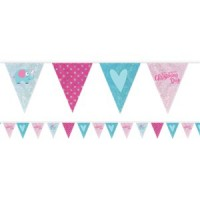 Christening Day Pink Holographic Foil Bunting
