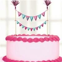 Christening Day Pink Cake Picks