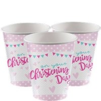 Christening Day Pink Cups