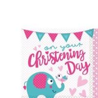 Christening Day Pink Napkins