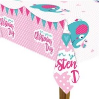 Christening Day Pink Tablecover