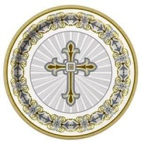 Silver & Gold Radiant Cross Plates