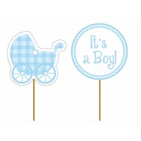 It's A Boy Cup Cake Toppers