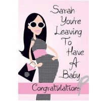 Personalised Fabulous Leaving For Baby Card