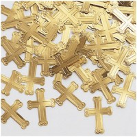 gold cross confetti