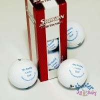 3 'My Daddy Loves Golf' Golf Balls