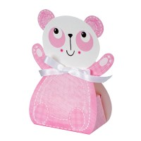 A Pink Panda Shaped Favour Box